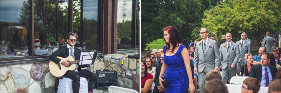wedding ceremony guitar player valley ridge golf course calgary wedding photographers anna michalska