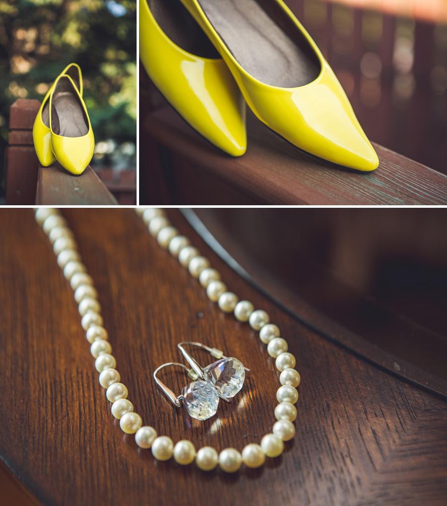 calgary wedding photographers yellow bride shoes