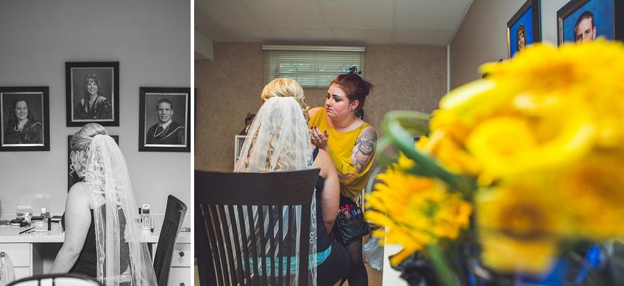 calgary wedding photographers bride makeup