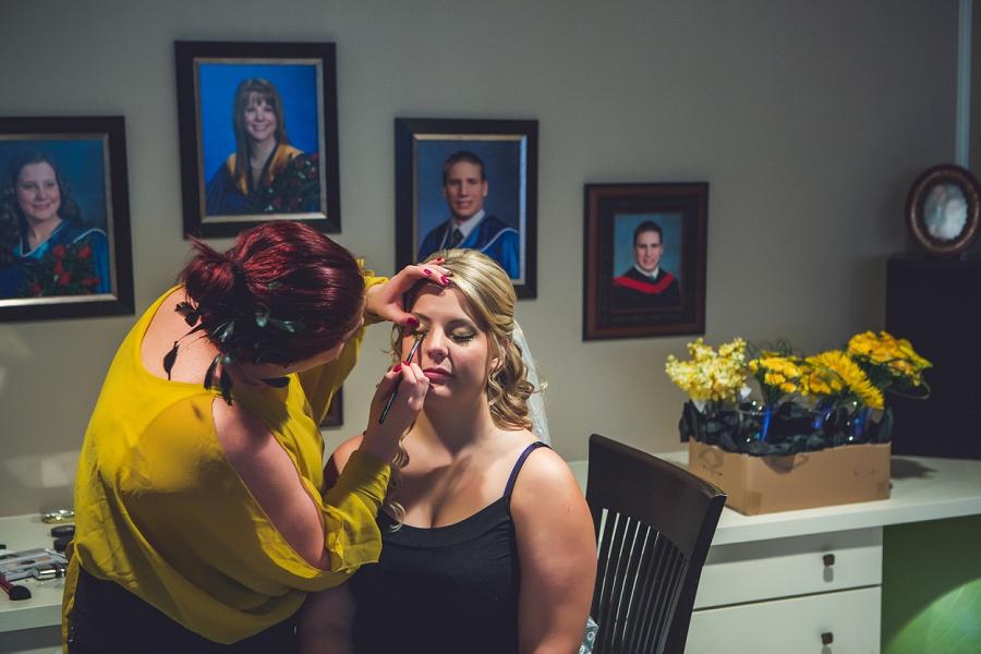 calgary wedding photographers bride eye makeup