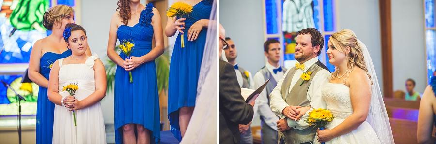 calgary wedding photographers flower girl at ceremony
