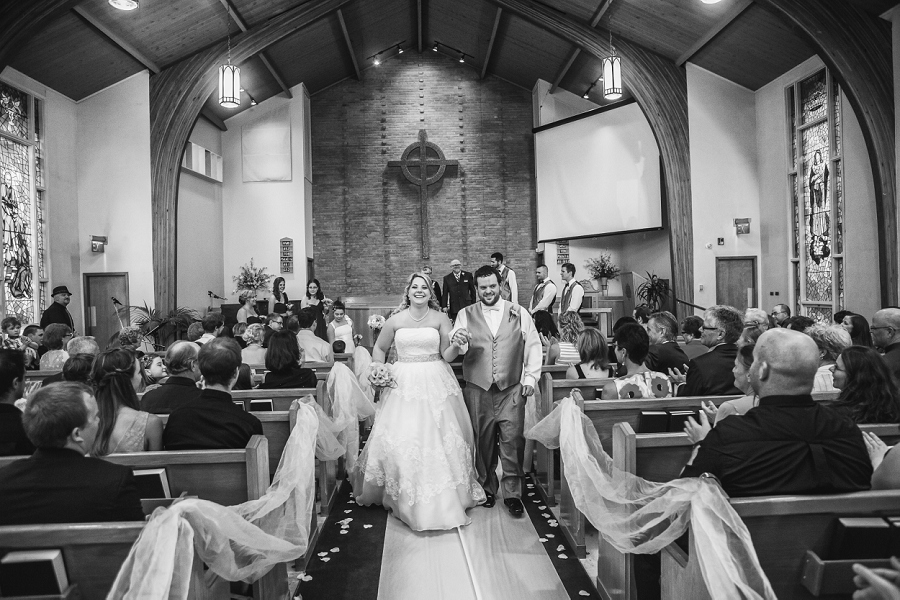 calgary wedding photographers recessional
