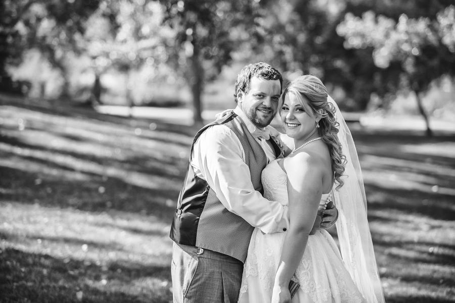 calgary wedding photographers confederation park bride groom black white
