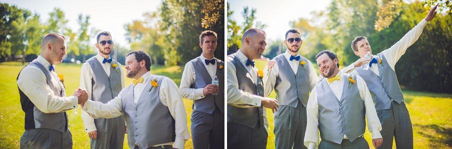 calgary wedding photographers confederation park groomsmen
