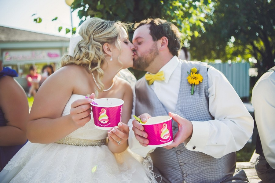 Andrea + Brendan | Calgary Wedding With A Visit To Menchies!