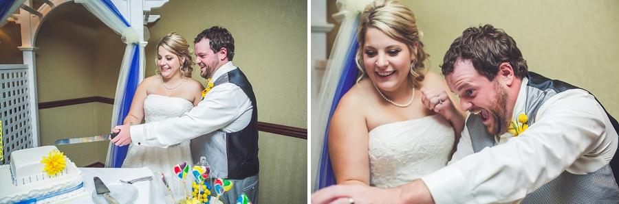 calgary wedding photographers cake cutting
