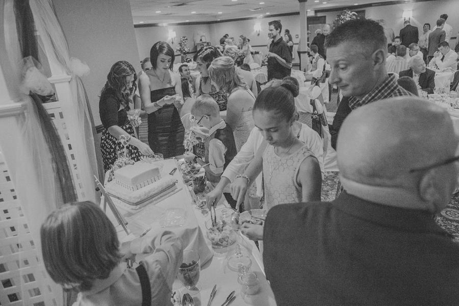 calgary wedding photographers cake reception