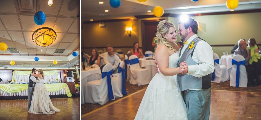 calgary wedding photographers bride groom first dance