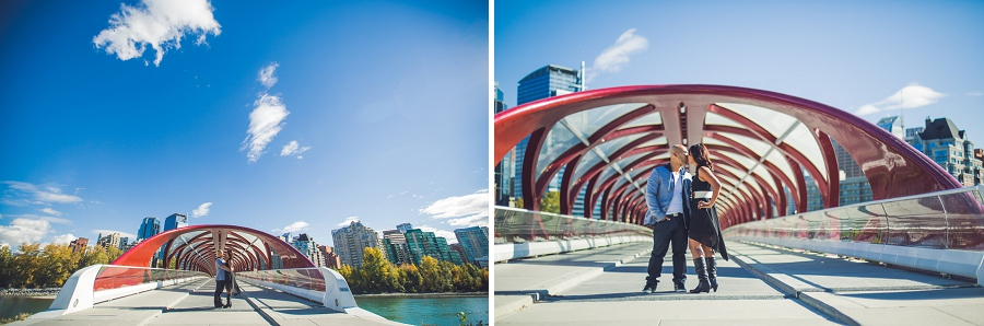 calgary cambodian engagement session peace bridge downtown