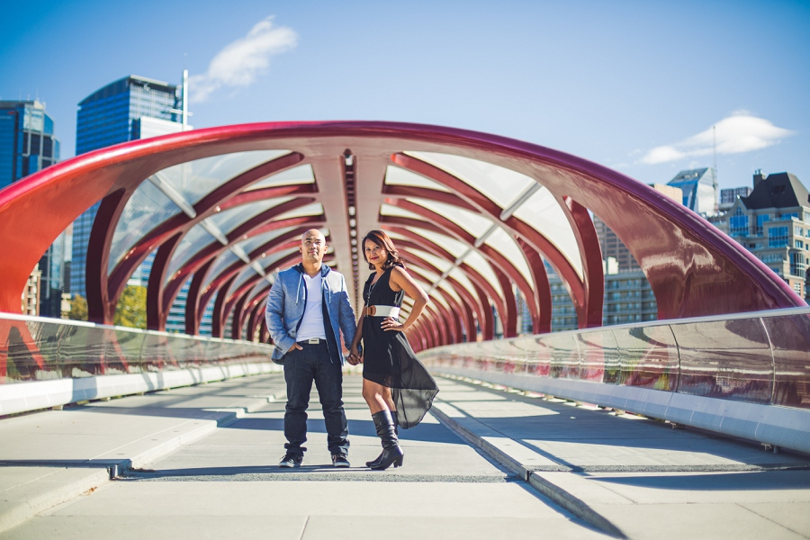 calgary cambodian engagement session peace bridge