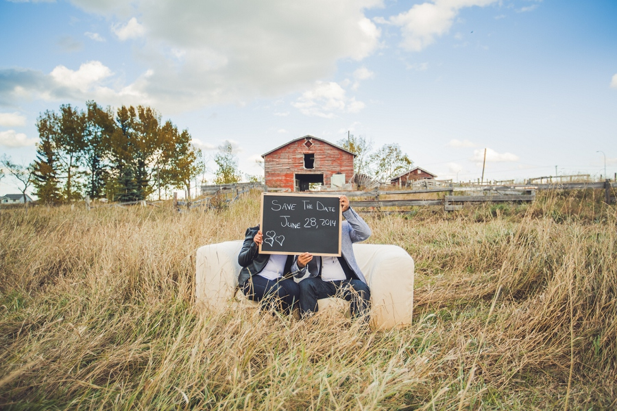 calgary cambodian engagement session save the date barn rustic rural