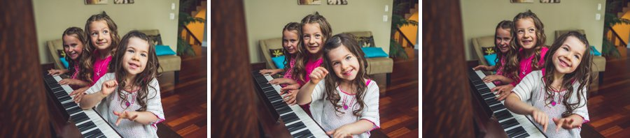 calgary family photographer girls daughters sisters on piano