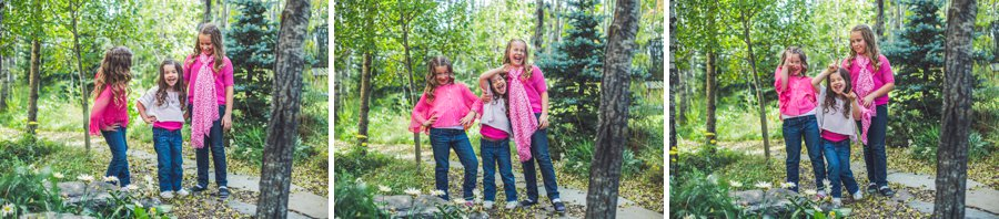 calgary family photographer sisters daughters being silly fall portrait