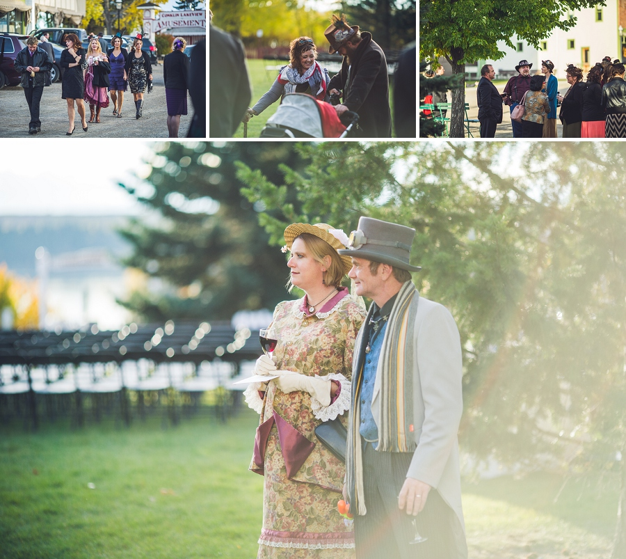 wedding guests calgary steampunk wedding photographer anna michalska heritage park