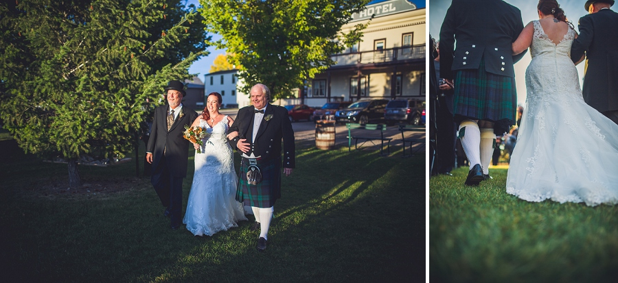 bride walking down aisle calgary steampunk wedding photographer anna michalska heritage park