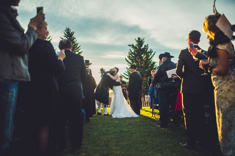 father giving away bride calgary steampunk wedding photographer anna michalska heritage park