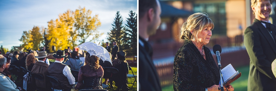 wedding ceremony calgary steampunk wedding photographer anna michalska heritage park