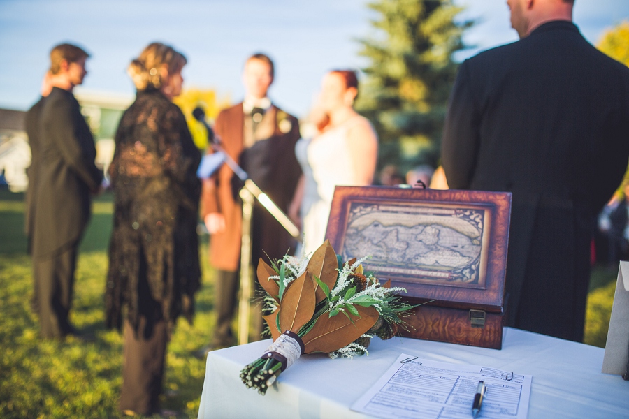 wine ceremony at wedding calgary steampunk wedding photographer anna michalska heritage park