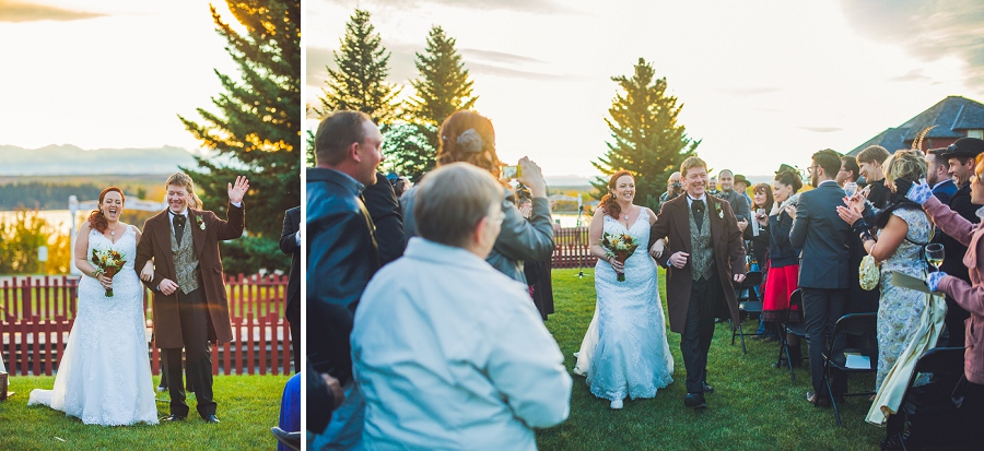 bride groom processional calgary steampunk wedding photographer anna michalska heritage park