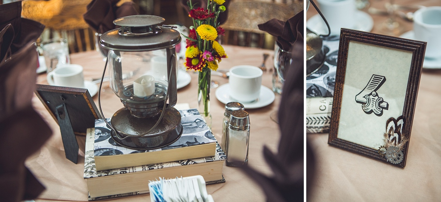 steampunk table decorations calgary steampunk wedding photographer anna michalska heritage park