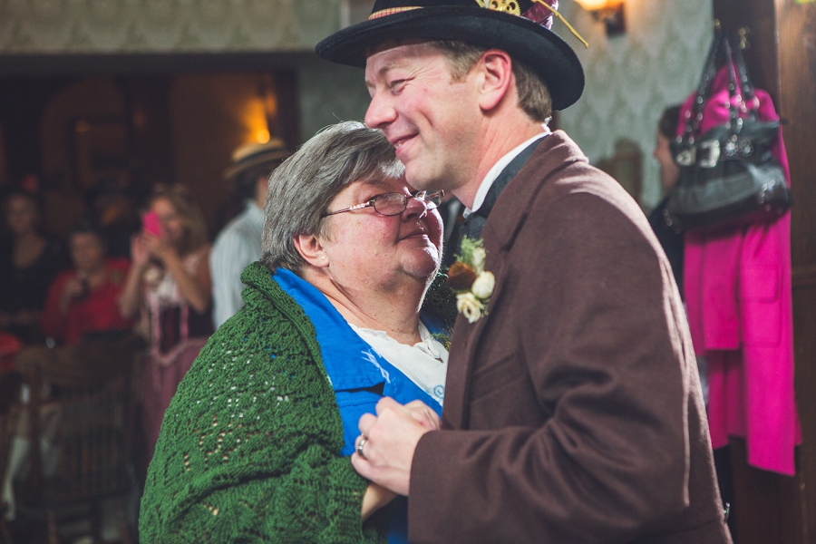 mother son dance calgary steampunk wedding photographer anna michalska heritage park
