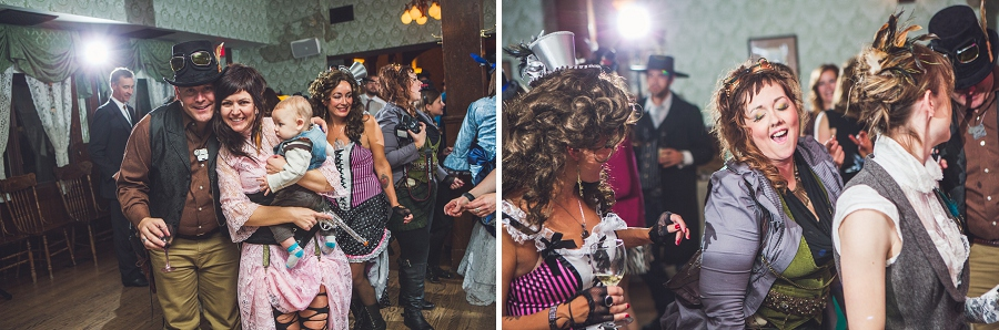 guests dancing calgary steampunk wedding photographer anna michalska heritage park