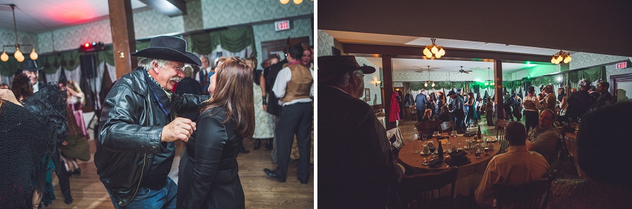 guests dancing hall calgary steampunk wedding photographer anna michalska heritage park