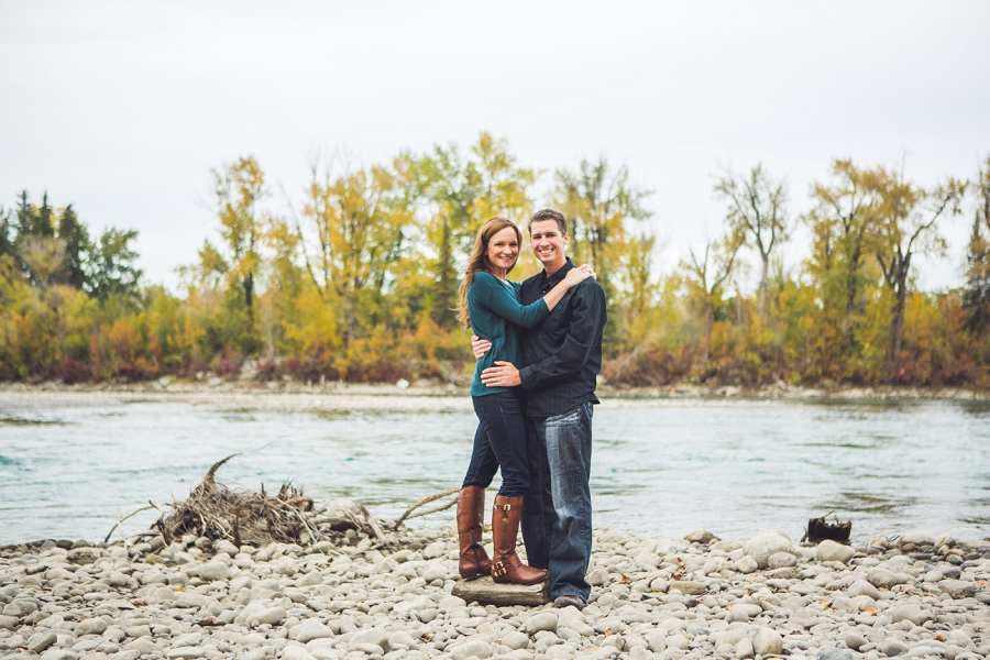 wedding anniversary photography session calgary couple by river