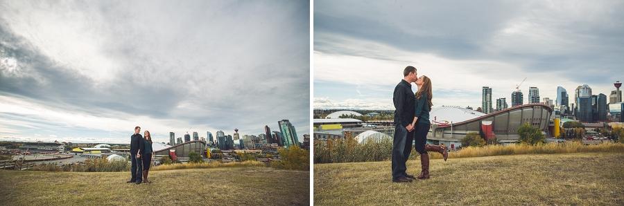 wedding anniversary photography session calgary couple skyline saddledome
