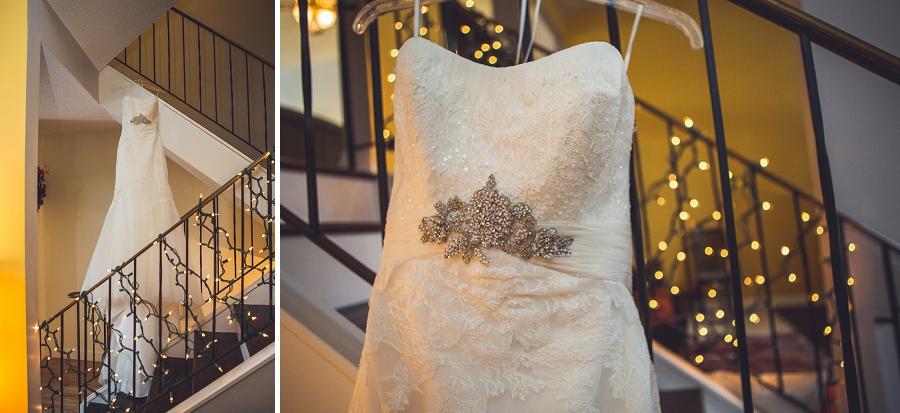 bridal dress hanging anna michalska photography calgary wedding