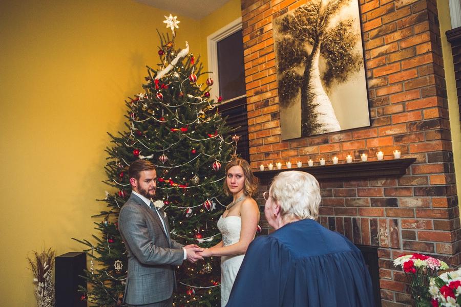 calgary christmas wedding ceremony anna michalska