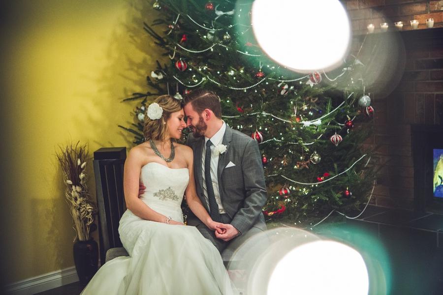 calgary christmas wedding bride groom anna michalska photography