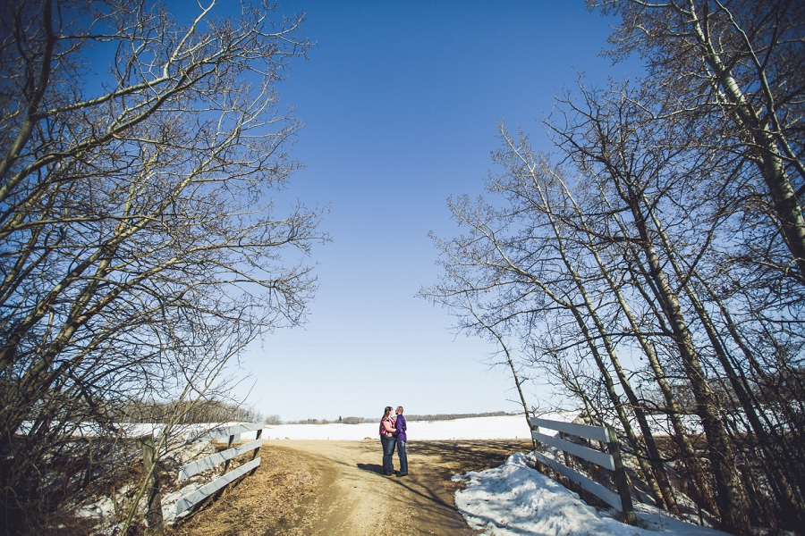 snow couple engagement session anna michalska photography calgary