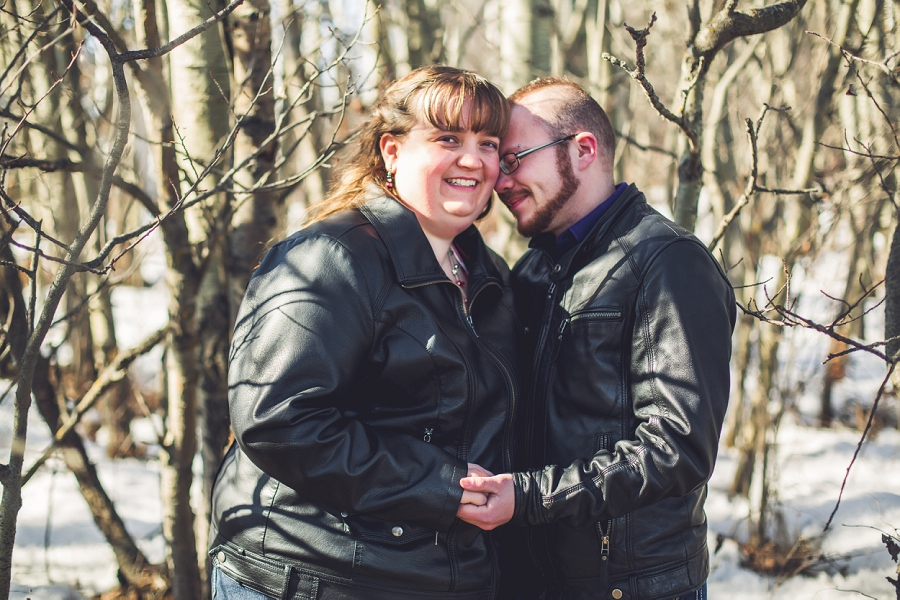 couple with tall trees anna michalska photography engagement session