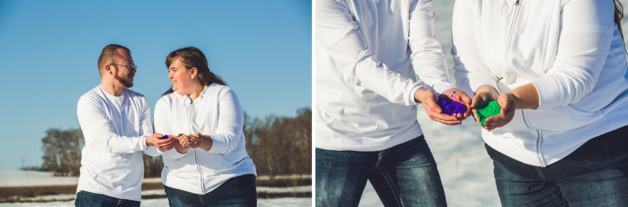 holi powder in hands couple engagement session anna michalska photography