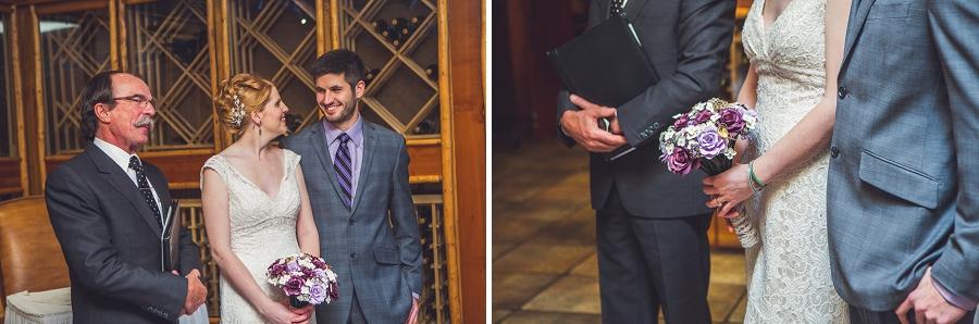 buffalo mountain lodge banff wine cellar wedding ceremony anna michalska photography