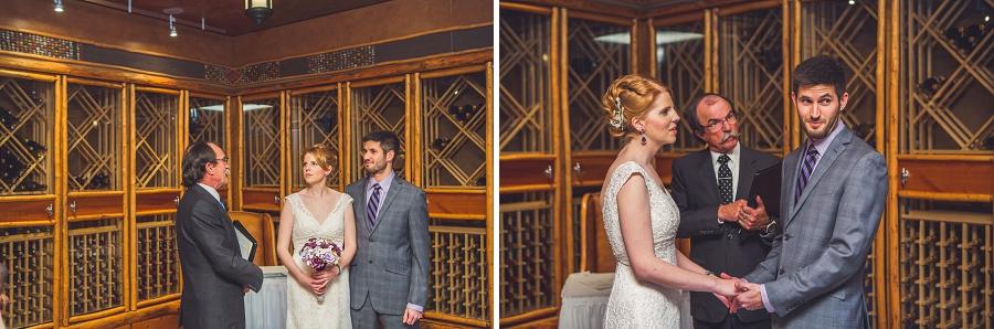 buffalo mountain lodge bride and groom exchange vows wedding ceremony anna michalska photography