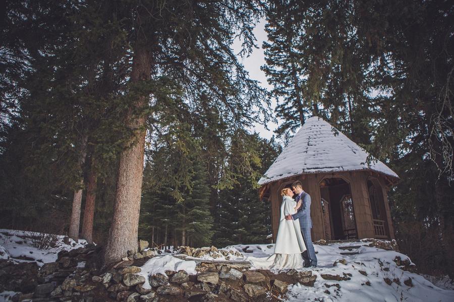 cascade gardens winter wedding gazebo anna michalska photography