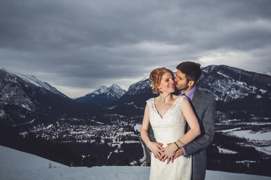 mount norquay banff valley winter wedding anna michalska photography