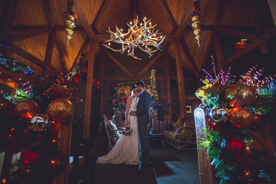 buffalo mountain lodge winter wedding christmas anna michalska photography