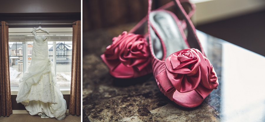 wedding gown and shoes calgary wedding photographer anna michalska