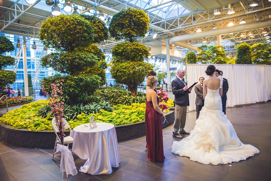 devonian gardens wedding ceremony bridal party