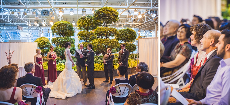 exchange of vows ceremony devonian gardens wedding