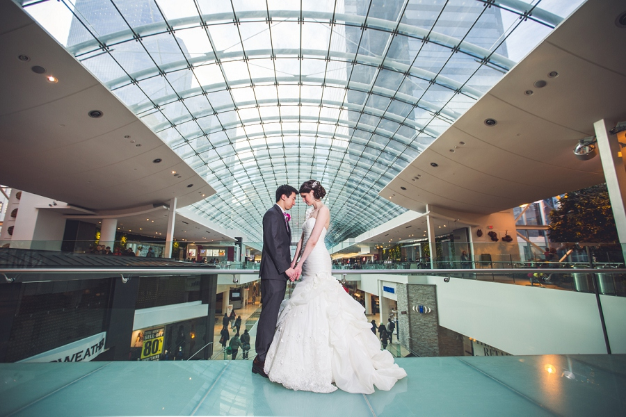 devonian gardens wedding bride and groom TD square the core