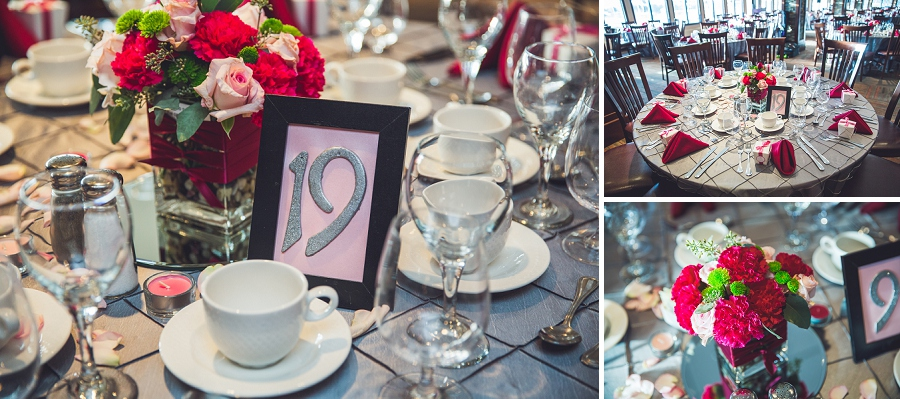table decorations numbers silver springs golf course calgary wedding photographer anna michalska