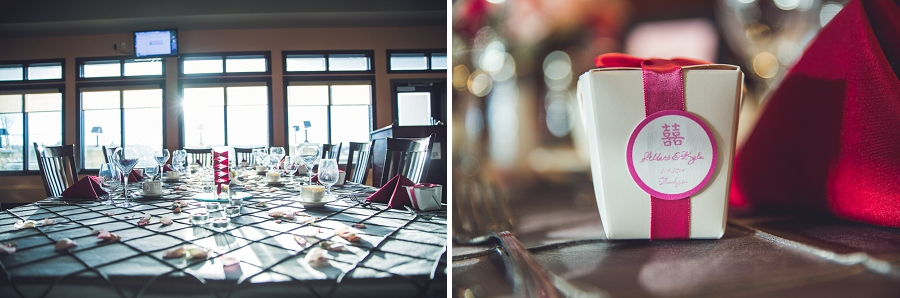 wedding reception favor silver springs golf course calgary wedding photographer anna michalska