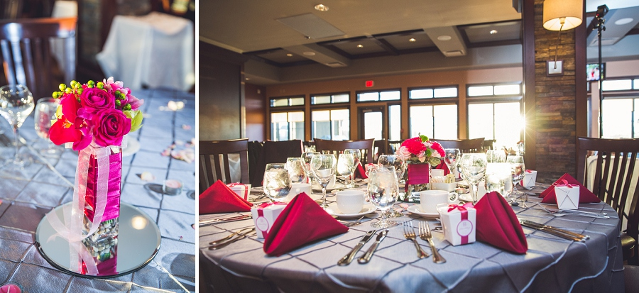 table decoration reception silver springs golf course calgary wedding photographer anna michalska
