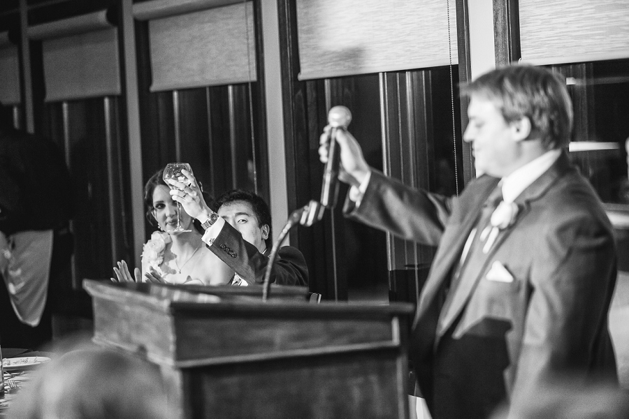 toast to bride and groom silver springs golf course calgary wedding photographer anna michalska
