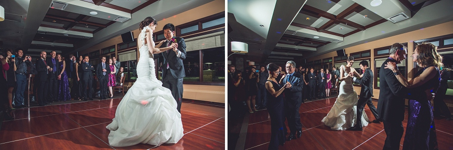 bride and groom first dance silver springs golf course calgary wedding photographer anna michalska