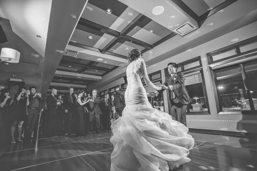 first dance bride and groom silver springs golf course calgary wedding photographer anna michalska